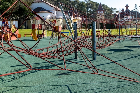 Children Park attraction, the hanging ropes photo