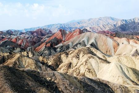Wind erosion landform,Also known as the Yadan landform - Filming in China's Gansu