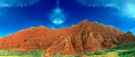 landform: Wind erosion landform,Also known as the Yadan landform - Filming in Chinas Qinghai