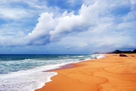 tropical beach  background.taken in Perfume Bay , Hainan, China 免版税图像