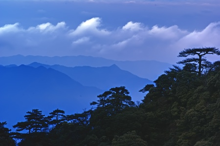 The cloud and mist of Sanqingshan mountain - Filming in  Jiangxi, China. The Sanqingshan has been listed as World Natural Heritage