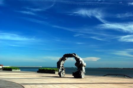 Haikou  Bay views, Hainan Island, China photo