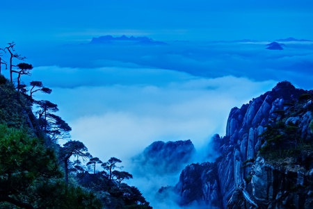 world natural heritage: The cloud and mist of Sanqingshan mountain - Filming in  Jiangxi, China. The Sanqingshan has been listed as World Natural Heritage