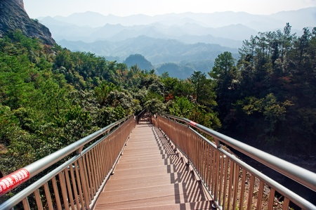 Beautiful scenery and viewing platform for boarding ladder