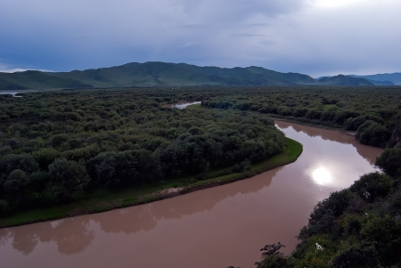 Wetlands of the upper reaches of the Yellow River in China,Taken in Maqu County, Gansu Province, China photo