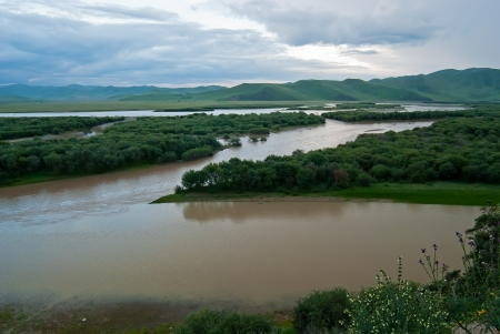 Wetlands of the upper reaches of the Yellow River in China,Taken in Maqu County, Gansu Province, China