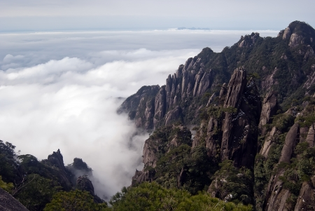 The Sanqingshan landscape of the world natural heritage Taken in China, Jiangxi photo