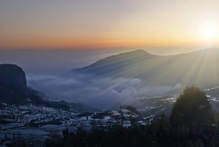 The China Yuanyangtitian beautiful scenery  photo