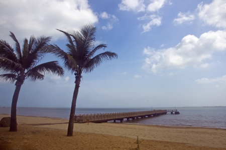 China s Hainan Island tropical coastal scenery photo