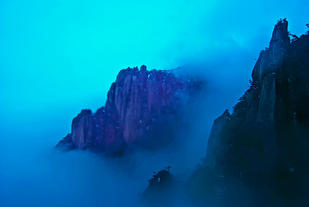 world natural heritage: The Sanqingshan landscape of the world natural heritage, Taken in China, Jiangxi, Sanqingshan Mountain Stock Photo