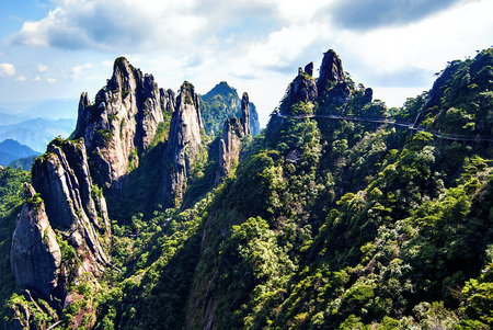world natural heritage: The Sanqingshan landscape of the world natural heritage, Taken in China, Jiangxi, Sanqingshan Mountain. Taken in China, Jiangxi, Sanqingshan Mountain.