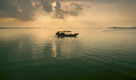 Ocean sunset background image photo