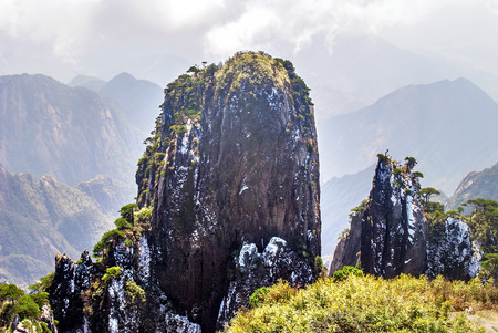 world natural heritage: The Sanqingshan landscape of the world natural heritage, Taken in China, Jiangxi, Sanqingshan Mountain.Taken in China, Jiangxi, Sanqingshan Mountain