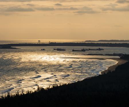 Sunset background, Ocean