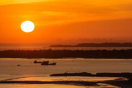 sea sunrise scenery