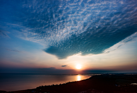Sea Sunrise scenery 免版税图像