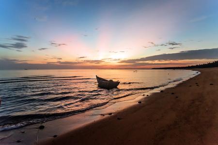 Sunrise background at the sea