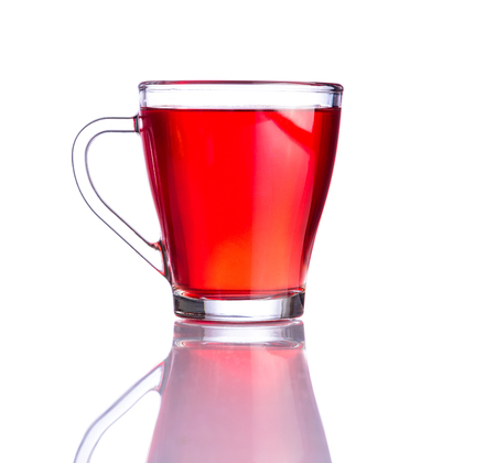 red tea: Cup of Red Tea isolated on white background