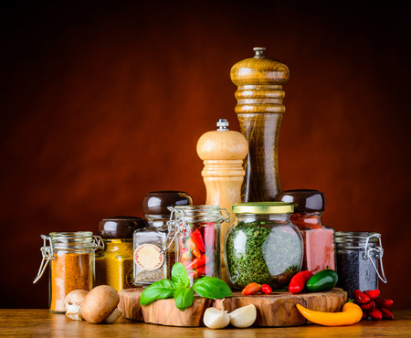 Food Spices, ingredients and other cooking Seasoning Stock Photo - 54079552