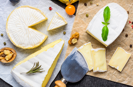 french cuisine: French Cuisine Brie and Camembert cheese with fruits