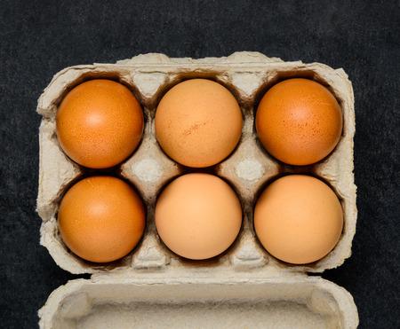 egg box: Homegronw Chicken Eggs in Egg Box