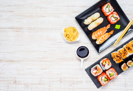 japanese cuisine: Copy Space Area with Japanese Delicacy Food Cuisine