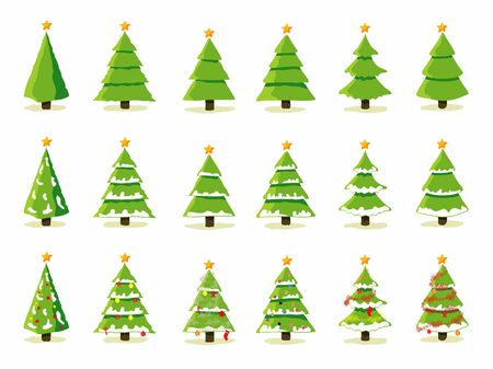 Christmas tree collection 일러스트