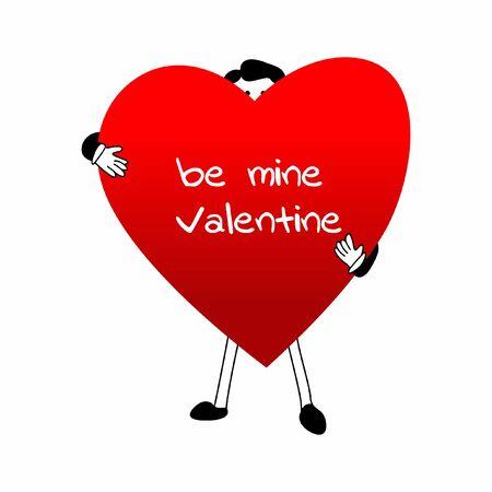 Be mine Valentine Illustration Illusztráció