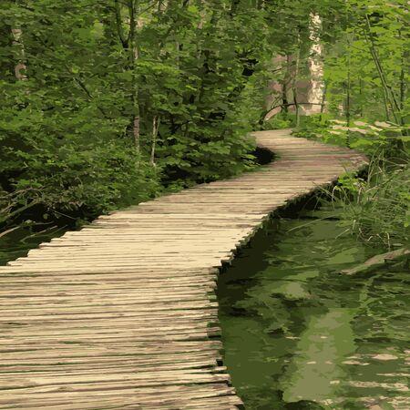 wooden walk