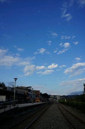 Railways with beautiful sky background