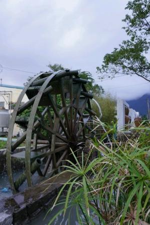 A hydroelectric power model with turbine Archivio Fotografico