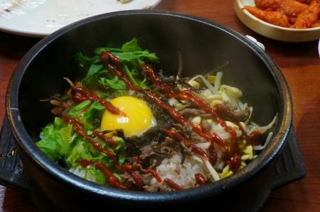 Korean cuisine - Bibimbap Archivio Fotografico