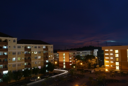 Condominium night view Archivio Fotografico