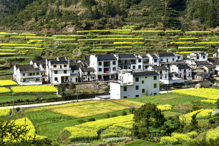 The village and town scenery of Wuyuan County, Shangrao, Jiangxi Province, China