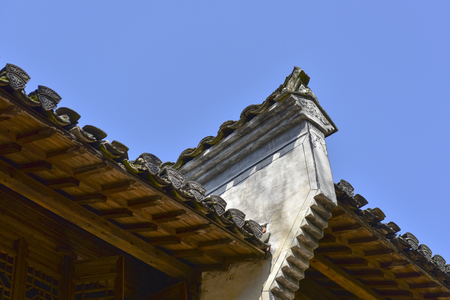 The horse head wall building in Wuyuan, Jiangxi, China Stock Photo