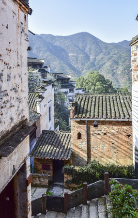 Rural characteristic architectural scenery, Wuyuan, Shangrao, Jiangxi, China