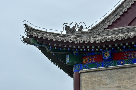 Shaanxi ancient city wall and Bell Tower and Drum Tower, Xi'an, China 版權商用圖片