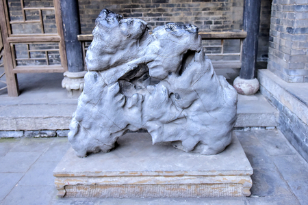 Stone carving of Chinese ancient architecture