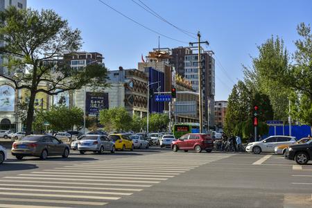 Urban city view in Baotou, Inner Mongolia, China.