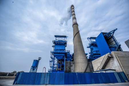 Perspective view of chimney of thermal power plant. Editorial