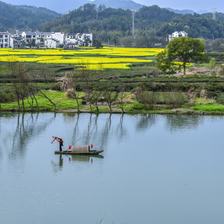 Landscape of Moon Bay in Wuyuan, Jiangxi Province