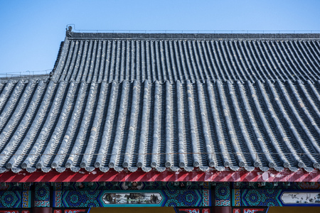 Ancient Chinese Architecture, Part of Temple Stock fotó