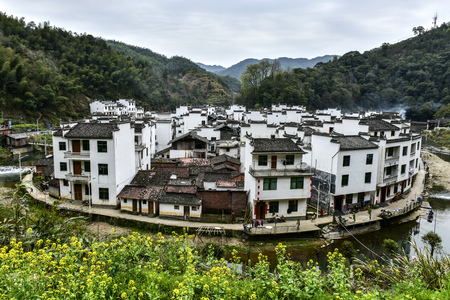 A round village, Jiangxi, China