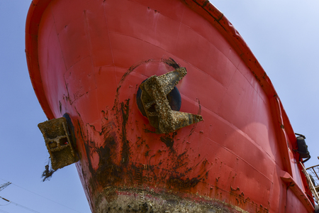 Close-ups of various vessels undergoing maintenance and repair