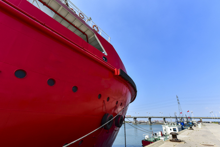 Close-ups of various vessels undergoing maintenance and repair Editorial