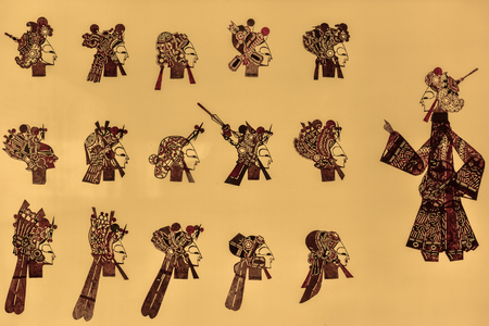Chinese ancient shadow play props Stock Photo
