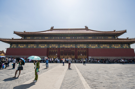 Beijing - April 25, 2015: The Palace Museum of Ancient Chinese Architecture gathers a lot of visitors.