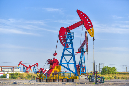 Close-up of Crank Balanced Beam Pumping Unit, Tower Pumping Unit in  China