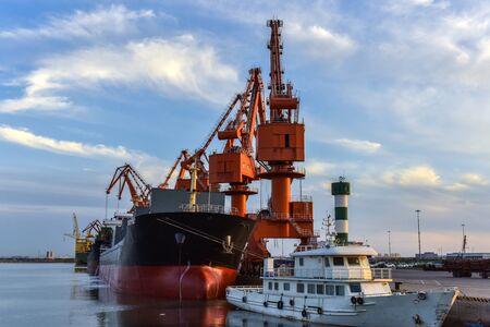 Heavy Loader Working in a Harbour Standard-Bild - 124851917
