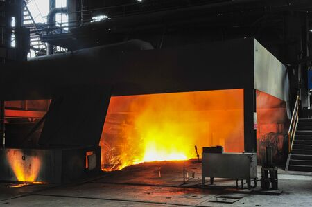 Steelmaking plant and steelmaking workshop 版權商用圖片